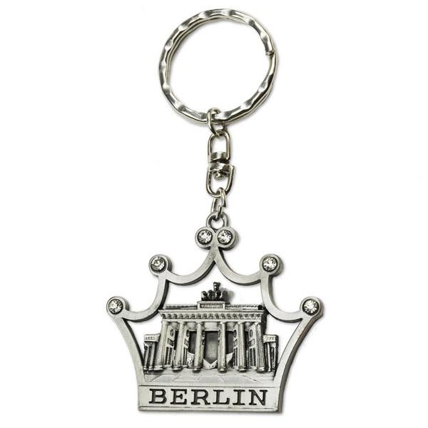 Schlüsselanhänger Metall Krone mit BT Berlin