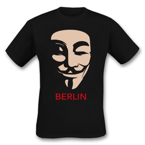 H Shirt Anonymus schwarz S
