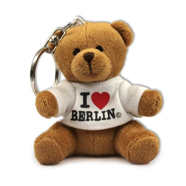 Schlüsselanhänger Bär mit Shirt I (Herz) Berlin