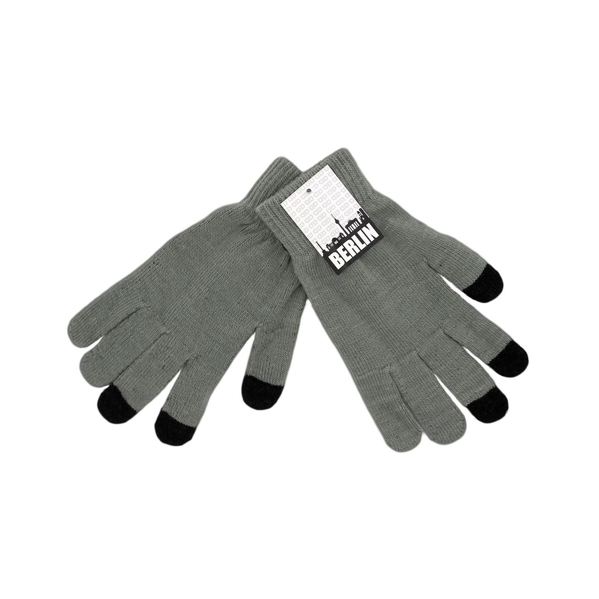 Handschuhe Touch melange dunkelgrau