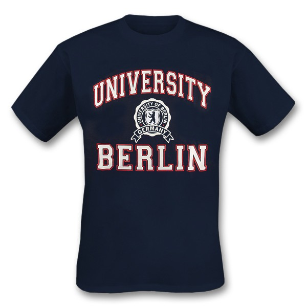 H Shirt Berlin University navy Größe S
