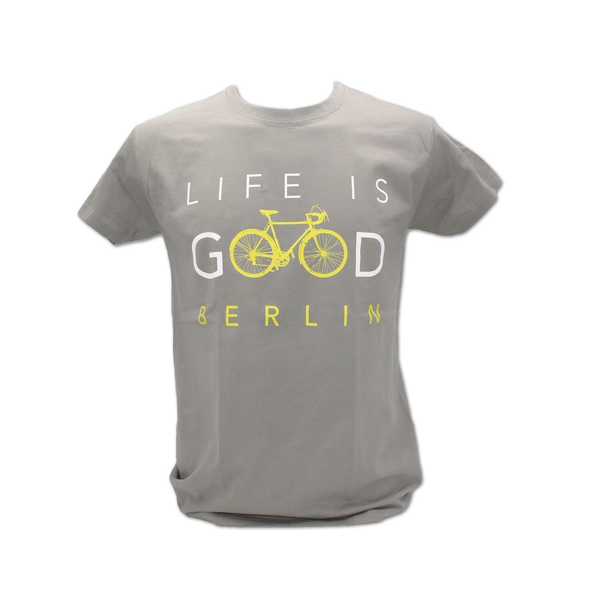H Shirt Life is Good Berlin zinc Größe S