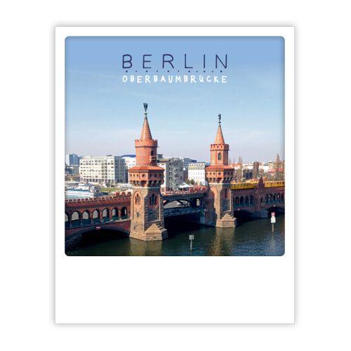Polaroid Karte oberbaum morning Berlin