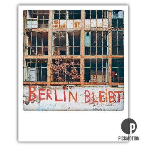 Polaroid Karte Berlin bleibt für immer