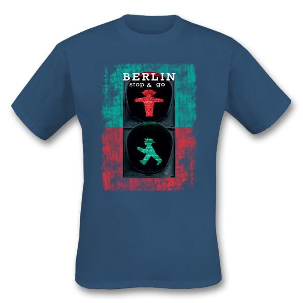 H Shirt Berlin stop & go denim Größe S