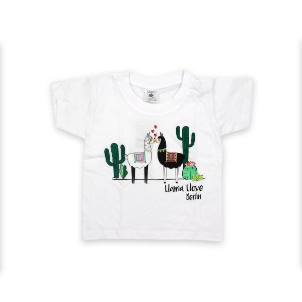 K Shirt Llama Love weiß Größe 92