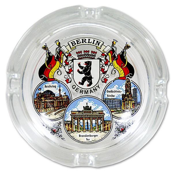 Aschenbecher Glas klein 3er Bild Berlin