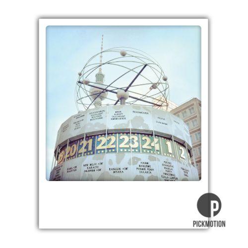 Polaroid Karte Weltzeituhr Berlin