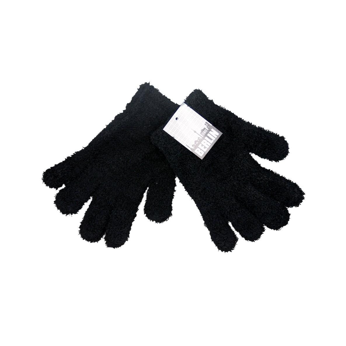 Handschuhe Damen Kuschel schwarz