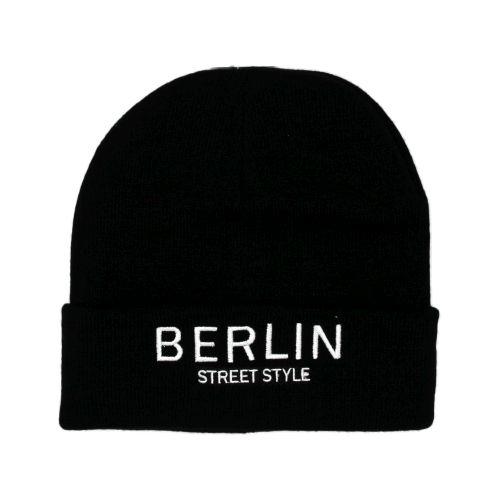 Mütze Berlin Street Style schwarz