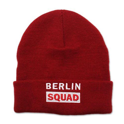 Mütze Berlin Squad rot