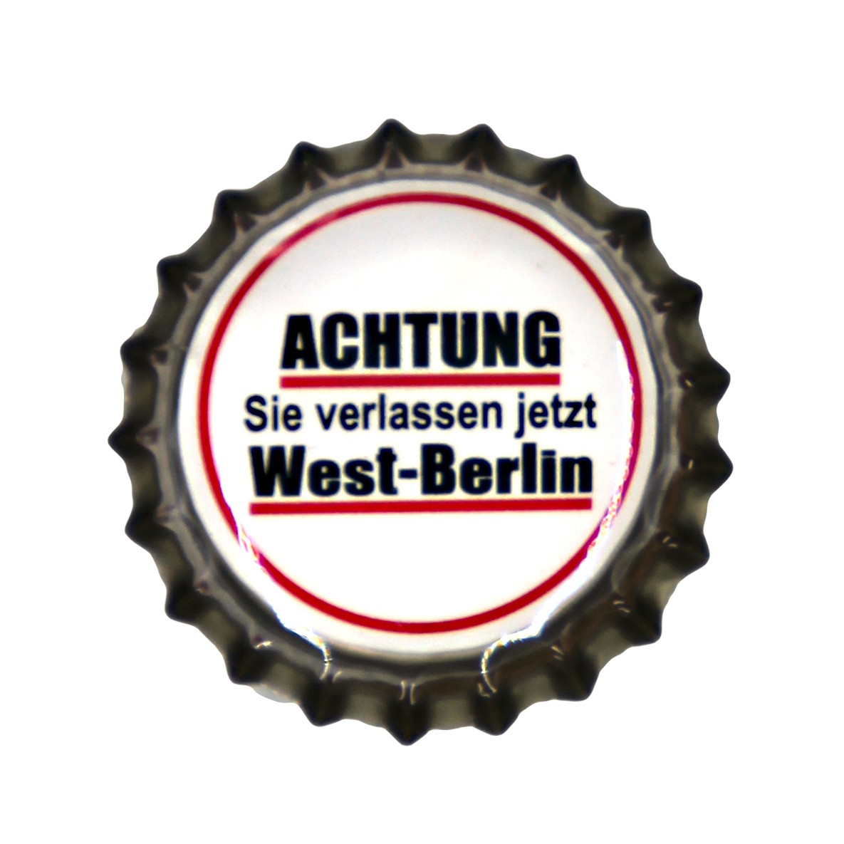 Magnet Kronkorken Achtung West-Berlin