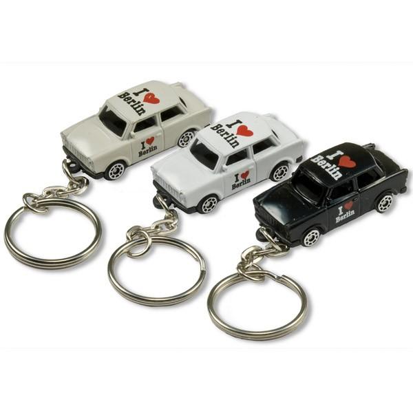 Schlüsselanhänger Trabant I (Herz) farblich sort.