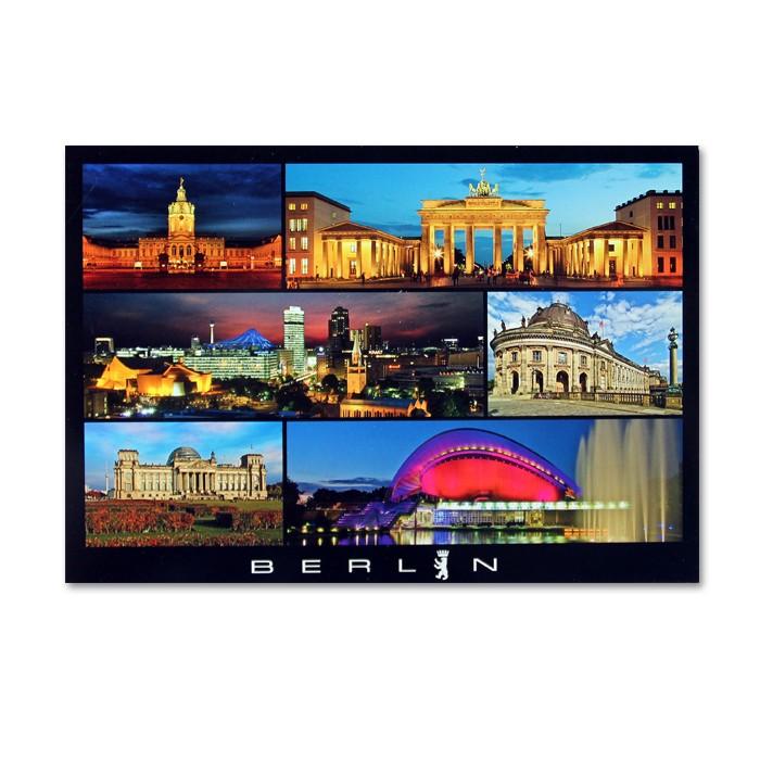 Postkarte Standard QF Berlin 6er Bild