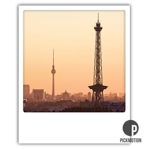 Polaroid Karte Berliner Türme