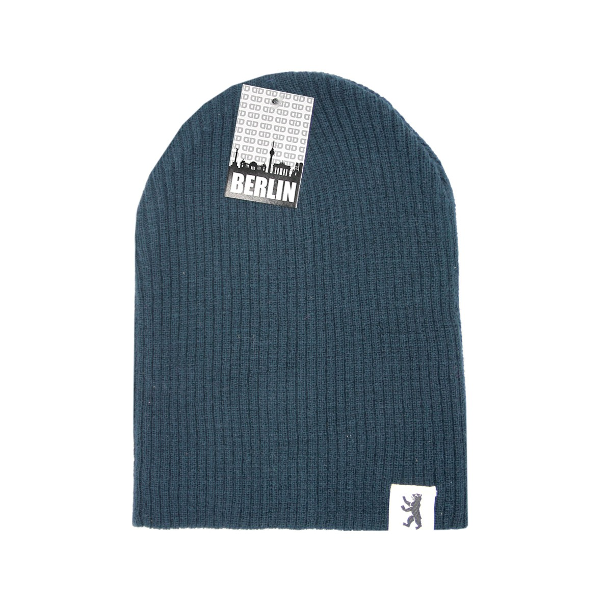 Mütze Basic geriffelt dunkelblau