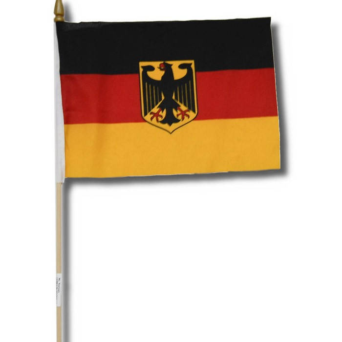 Fahne 15x22,5cm Wappenform D-Adler