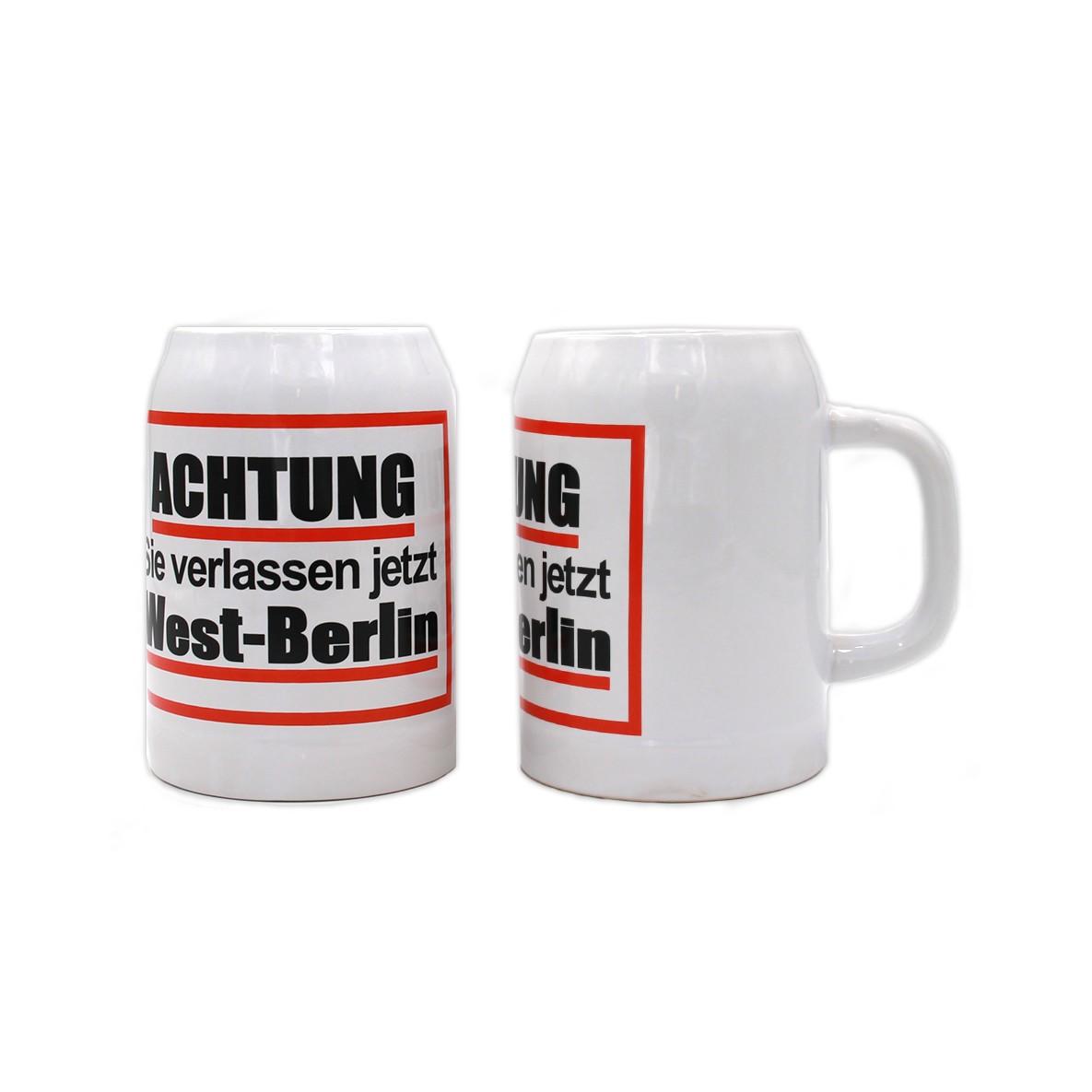 Steinkrug 0,5l Achtung West Berlin