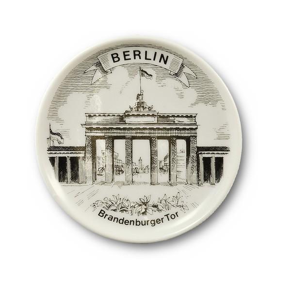 Untersetzer Porzellan s/w BT heute Berlin weiß