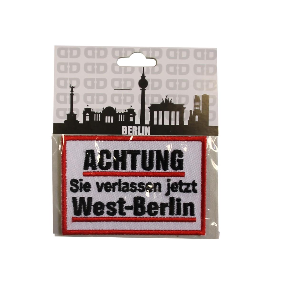 Aufnäher Achtung West-Berlin