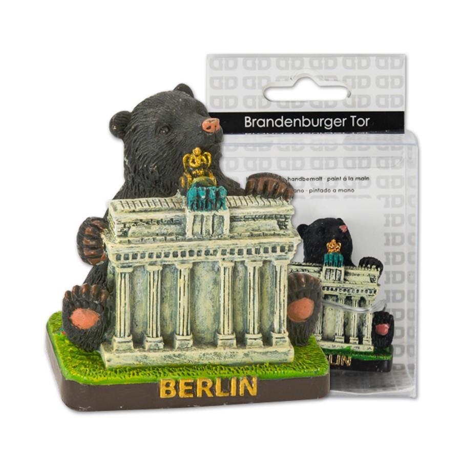 Miniatur Brandenburger Tor mit Berliner Bär