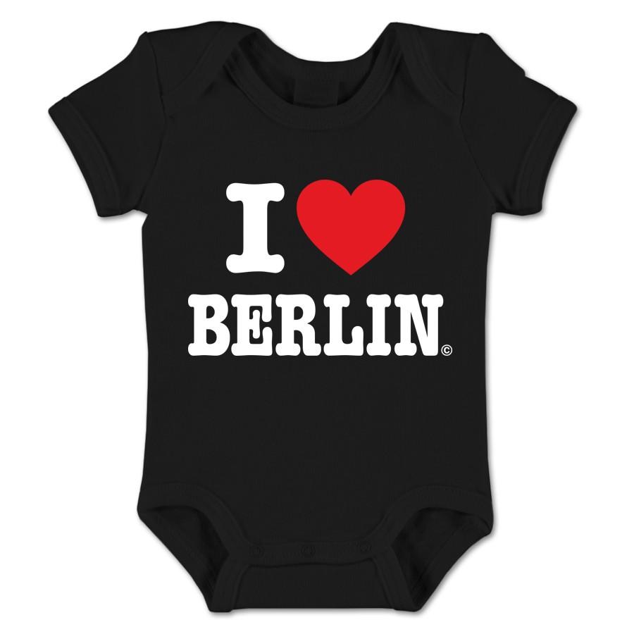 Baby Body I (Herz) Berlin schwarz Größe 3-6 Monate