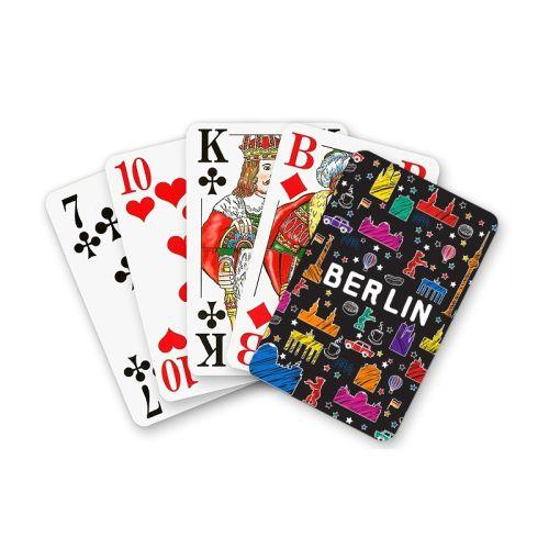 Spielkarten Scribble schwarz