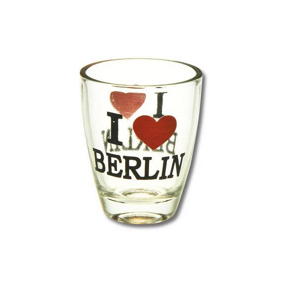 Stamper Glas I (Herz) Berlin schwarz-rot