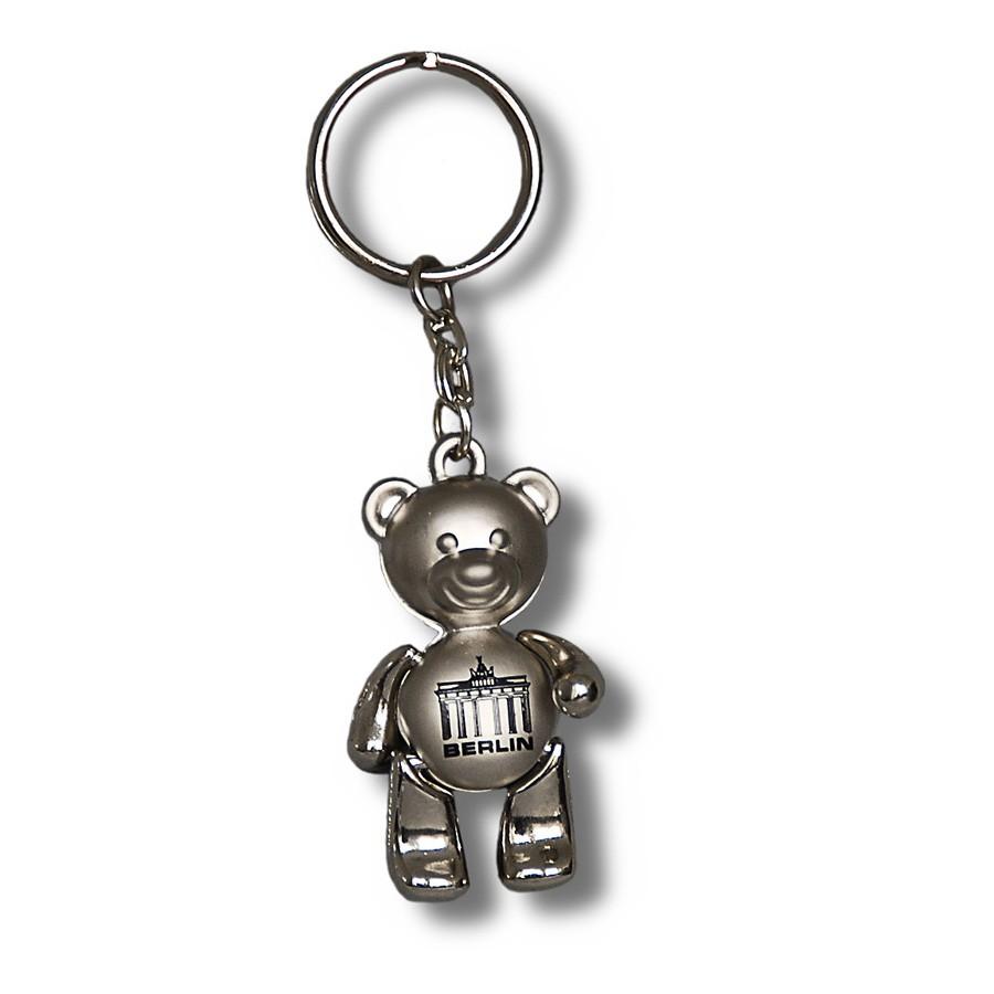 Schlüsselanhänger Bär beweglich BT silber
