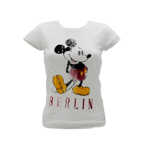 D shirt Mickey Berlin weiß