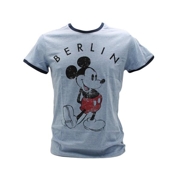H shirt Mickey Berlin blue melange Größe XS