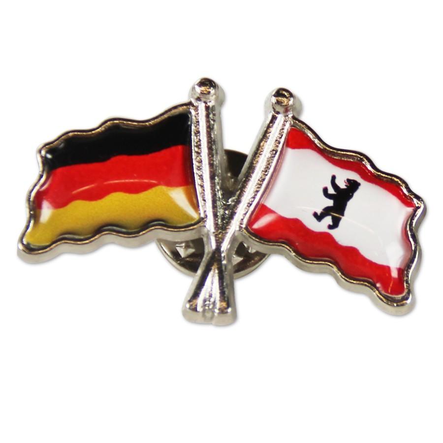 Pin Flaggen Berlin und Deutschland