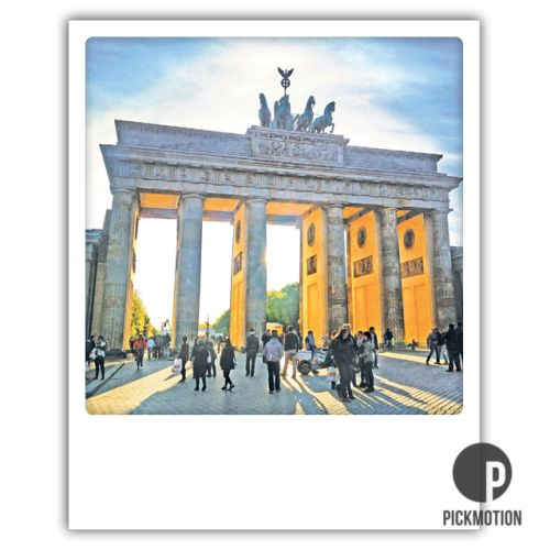 Polaroid Karte Tor zur Sonne Berlin