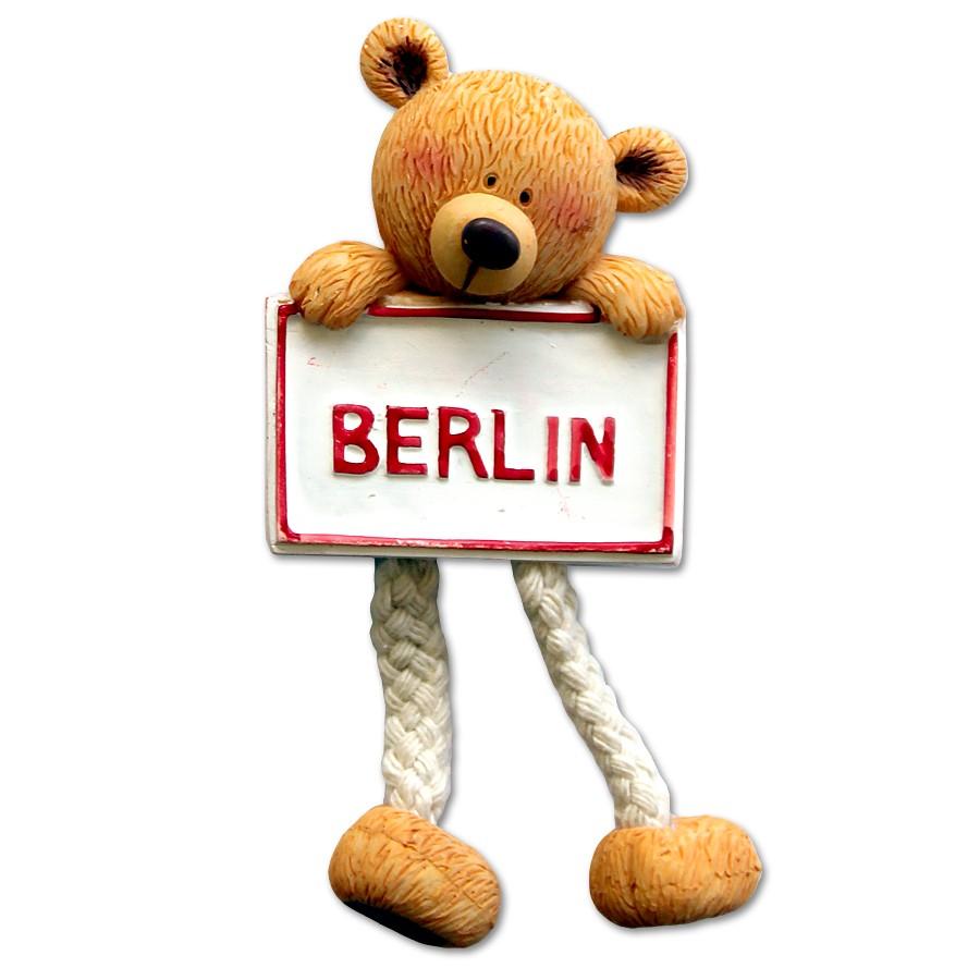 Magnet Poly Bärchen mit Ortsschild Berlin