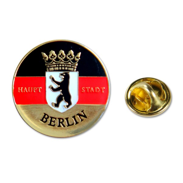 Pin BW mit Krone + Hauptstadt Berlin