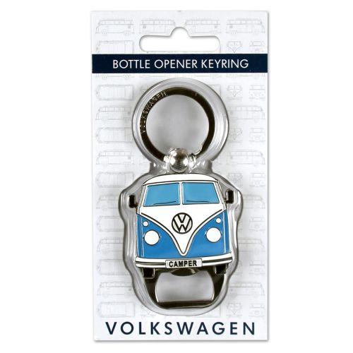 VW T1 Bus Schlüsselanhänger Flaschenöffner blau