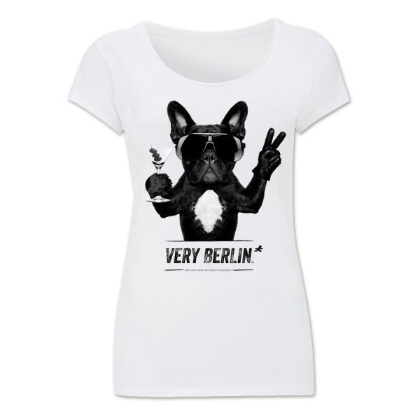 D Shirt bulldog weiß