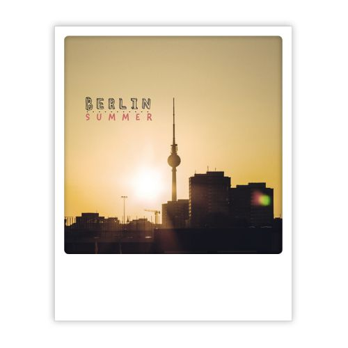 Polaroid Karte berlin summer sunset Berlin