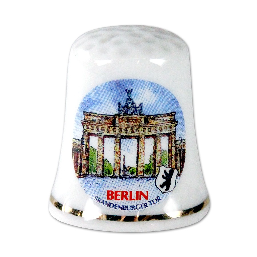 Fingerhut Porzellan in Box BT Berlin weiß
