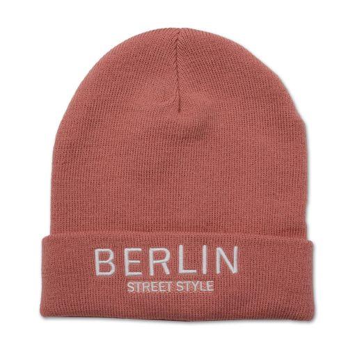 Mütze Berlin Street Style rosa