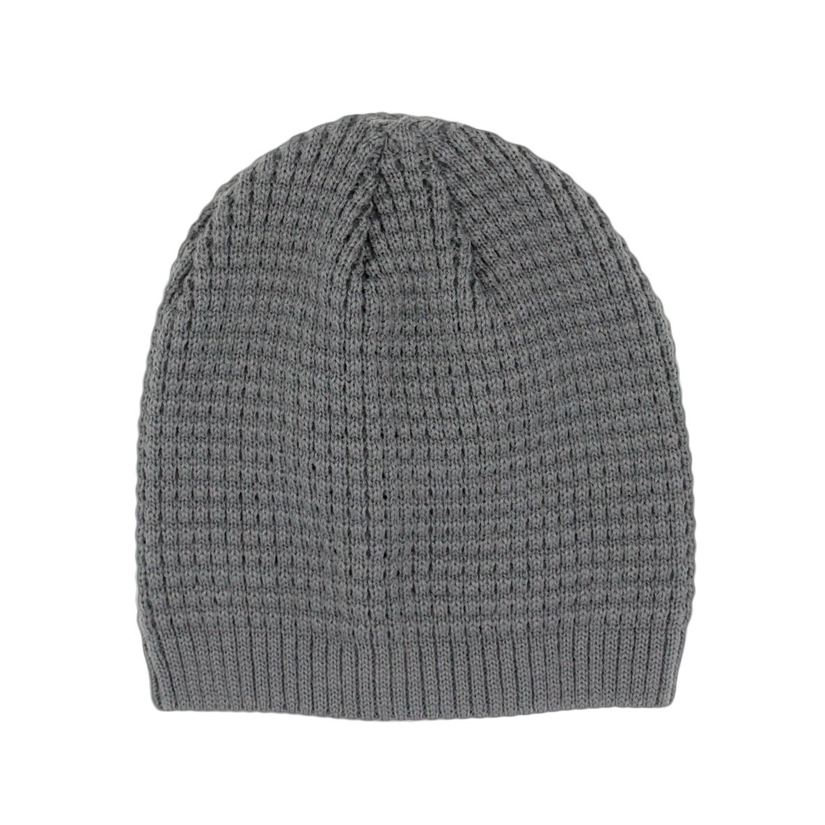 Mütze Strick dunkelgrau