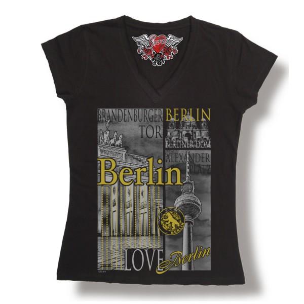 D Shirt Berlin city silver Größe S