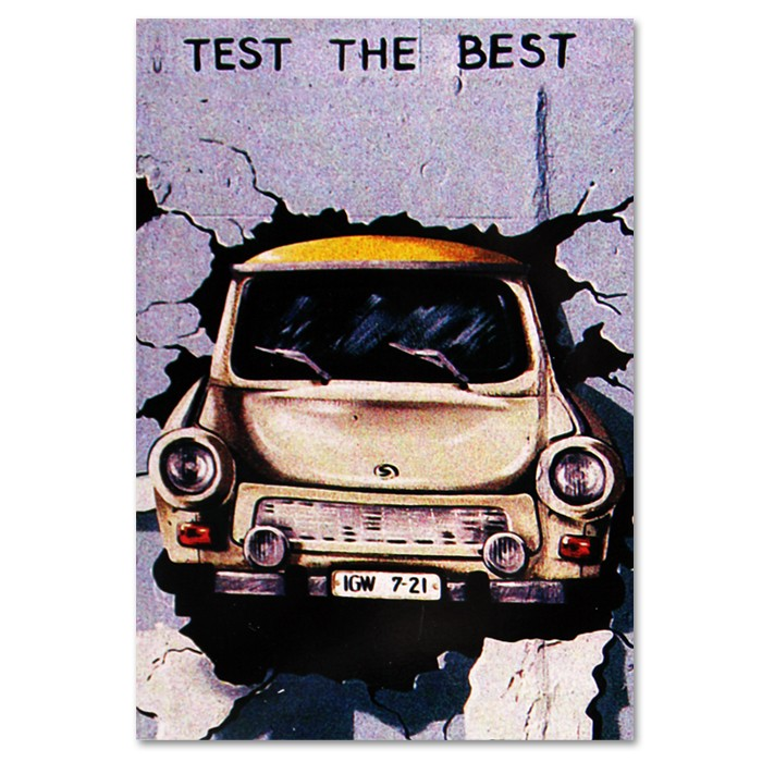 Postkarte Standard HF Trabi Test the Best Berlin