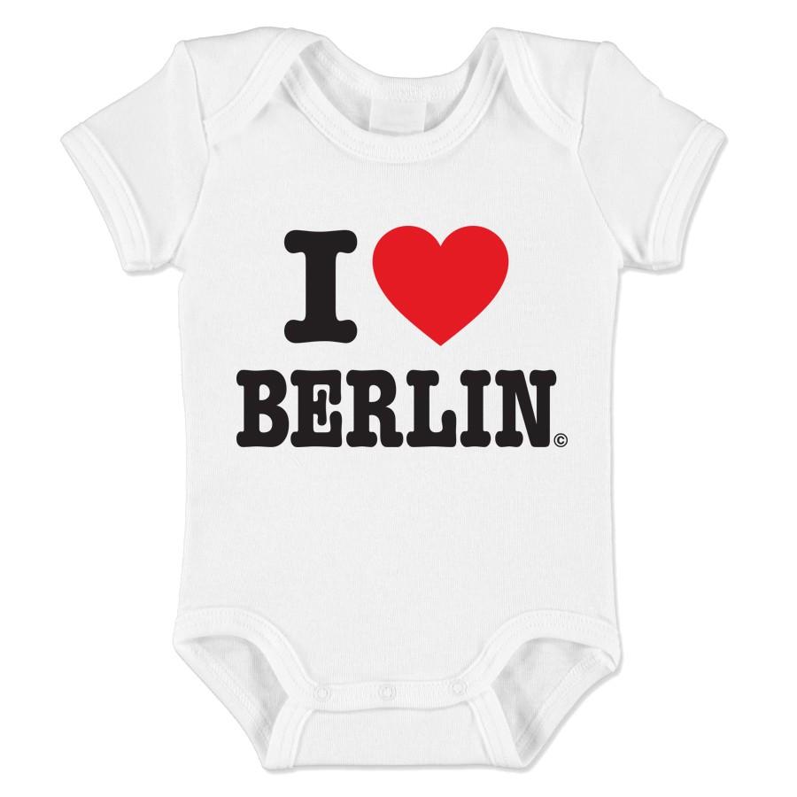 Baby Body I (Herz) Berlin weiß Größe 3-6 Monate