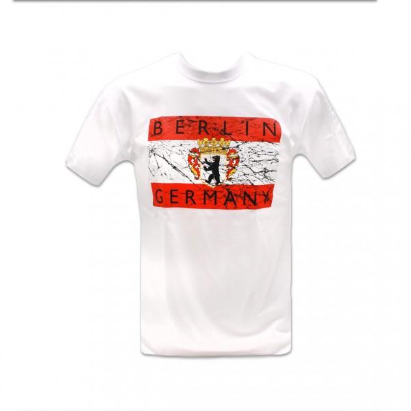 H Shirt Fahne Vintage Berlin weiss Größe S