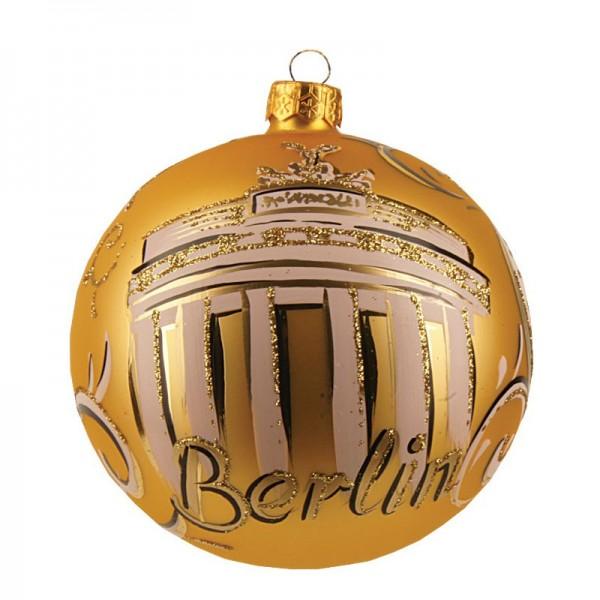 Weihnachtskugel Berlin gold