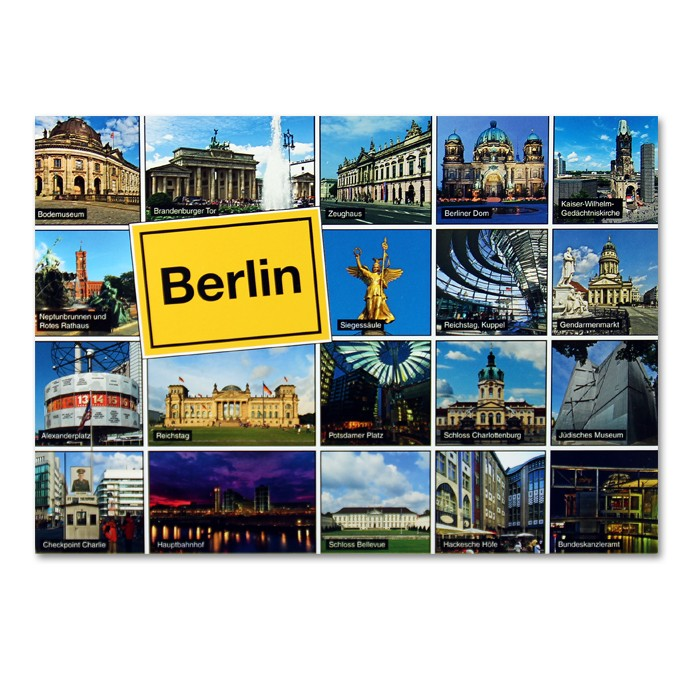 Postkarte Standard QF 19 Bilder + Ortsschild