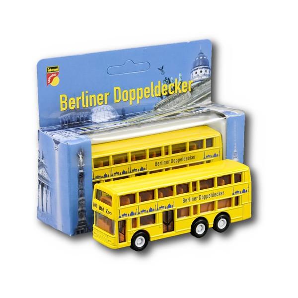 Doppeldecker Bus Miniatur 10cm Berlin gelb