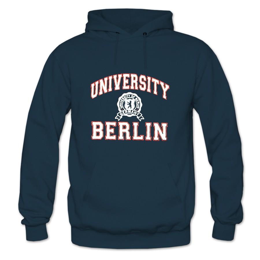 Sweater Kapuze Berlin University marine Größe S