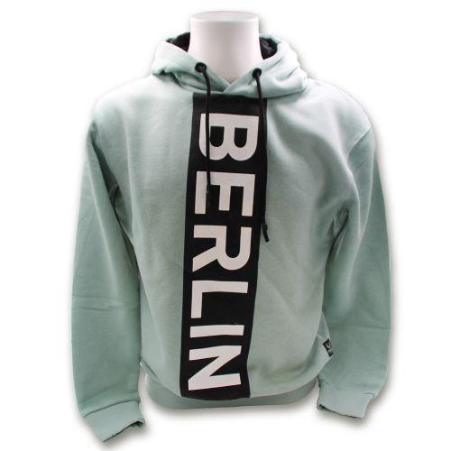 Sweater Vertical cut Berlin blue